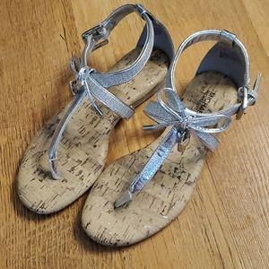 Girls Michael Kors Demi Sash 888 lock sandals